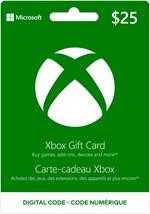 Xbox Digital Gift Card  $25