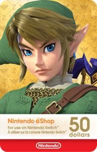 Nintendo eShop Digital Card $50