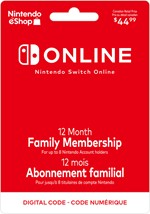 Nintendo Switch Online 12-Month Family Membership