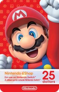 Nintendo eShop Digital Card $25