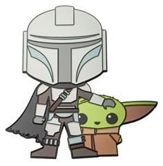 Mandalorian & Baby Yoda 6-Inch Pin