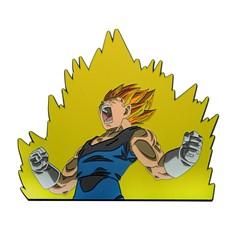 Dragon Ball Z 6-inch Vegeta Flame Enamel Pin