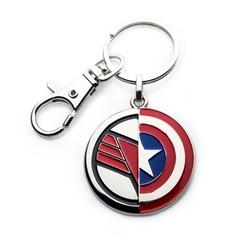 The Falcon Cap Shield Key Chain