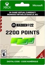 Madden NFL 22 Ultimate Team -  2,200 Points