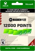 Madden NFL 22 Ultimate Team - 12,000 Points