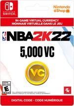 NBA 2K22 Virtual Currency -   5,000 VC