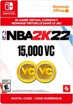 NBA 2K22 Virtual Currency -  15,000 VC