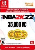 NBA 2K22 Virtual Currency -  35,000 VC