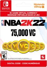 NBA 2K22 Virtual Currency -  75,000 VC