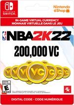 NBA 2K22 Virtual Currency - 200,000 VC